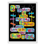 Leave Your Own Trail Inspirational Greeting Card
