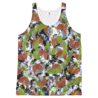 leaves5 All-Over-Print tank top