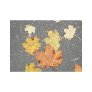Leaves 5 Small Rec Canvas