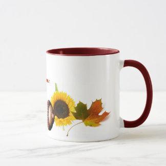 Leaves, Acorns, and Sunflowers Mug