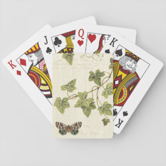 Leaves and a Butterfly Poker Deck