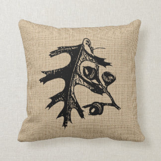 Leaves and Acorn Pillow