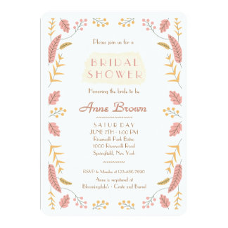 Leaves and Berries Invitation