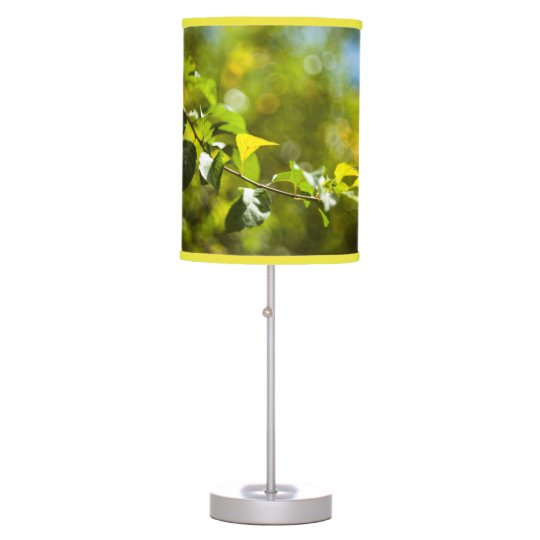 Leaves and bokeh table lamp