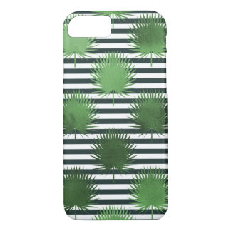 Leaves and stripes phone case