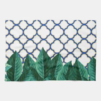 Leaves and Tiles Kitchen Towel