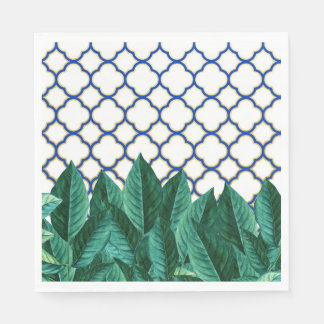 Leaves and Tiles Paper Napkin