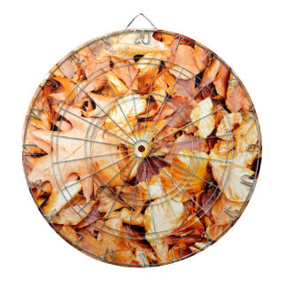 Leaves background dartboard