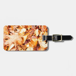 Leaves background luggage tag