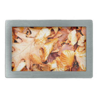Leaves background rectangular belt buckle