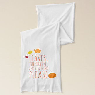 Leaves, breeze, and pumpkins jersey scarf