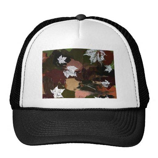 Leaves Camo Print Trucker Hats