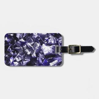 Leaves - Denim Blue Luggage Tag