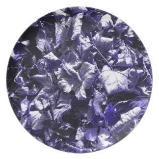 Leaves - Denim Blue Plate