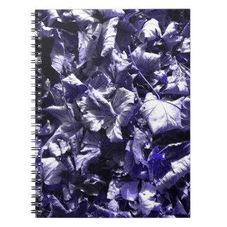 Leaves - Denim Blue Spiral Notebooks