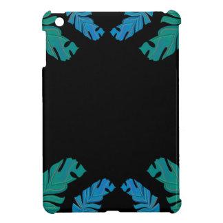 Leaves design on black iPad mini cover