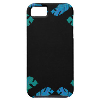 Leaves design on black iPhone 5 cover