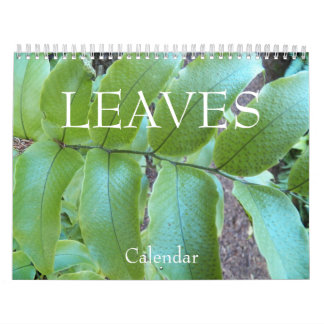 Leaves Floral Photo Calendar