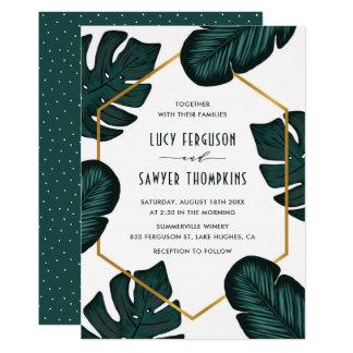 Leaves Frame Tropical Wedding Invitation