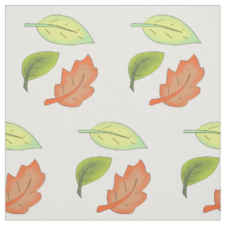 Leaves from trees. fabric