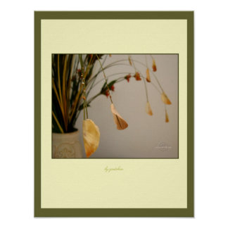 Leaves Gently Bowing Poster by gretchen