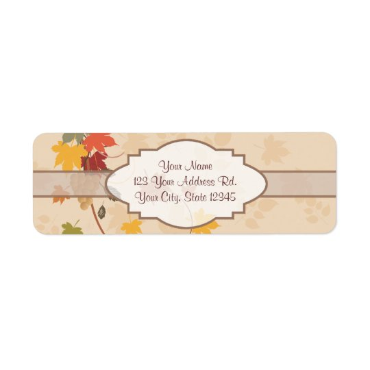 Leaves, Grapes and Ribbons - Customizable Return Address Label