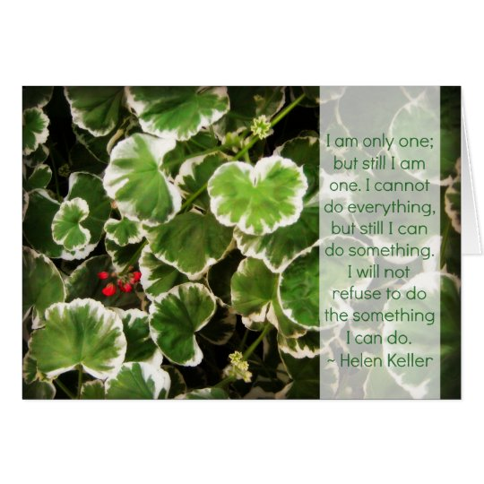 Leaves & Helen Keller Quote Card