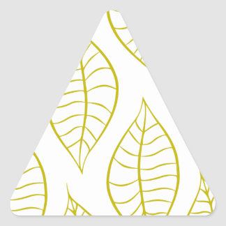 Leaves in Citron Triangle Sticker