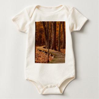 Leaves In Fall Baby Bodysuit