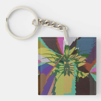Leaves in Nature Organic Colors Keychain