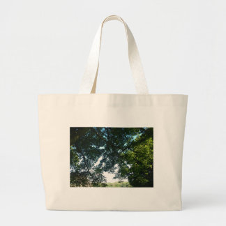 Leaves in Sunshine Large Tote Bag