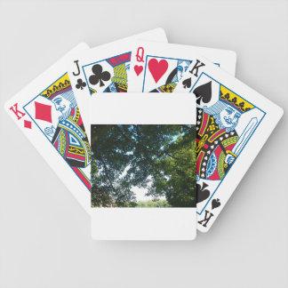 Leaves in Sunshine Poker Deck