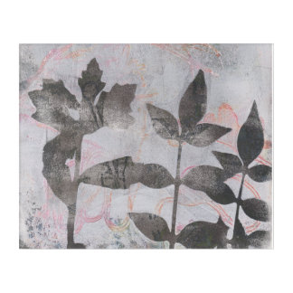 Leaves Monoprint 17064527 Wall Art