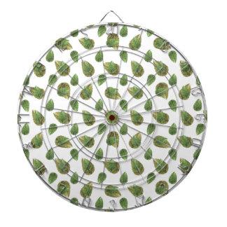 Leaves Motif Nature Pattern Dartboard