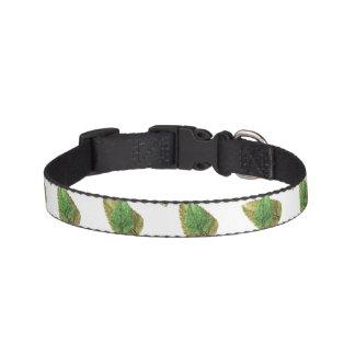 Leaves Motif Nature Pattern Dog Collar