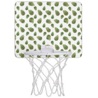 Leaves Motif Nature Pattern Mini Basketball Hoop