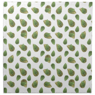 Leaves Motif Nature Pattern Napkin