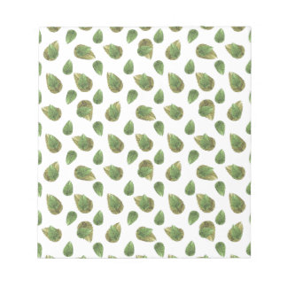 Leaves Motif Nature Pattern Notepad