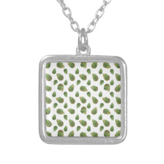 Leaves Motif Nature Pattern Silver Plated Necklace