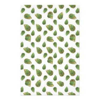 Leaves Motif Nature Pattern Stationery