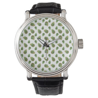 Leaves Motif Nature Pattern Watch