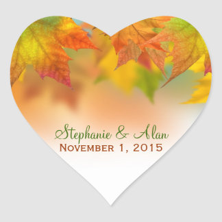 Leaves of Autumn Wedding Stickers