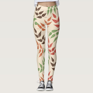 leaves of colors leggings
