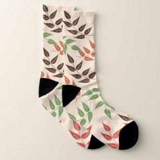 leaves of colors socks