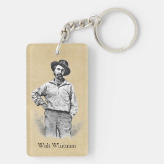 Leaves of Grass Double-Sided Rectangular Acrylic Keychain