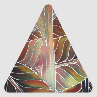Leaves of Green (and red, yellow and orange....) Triangle Sticker