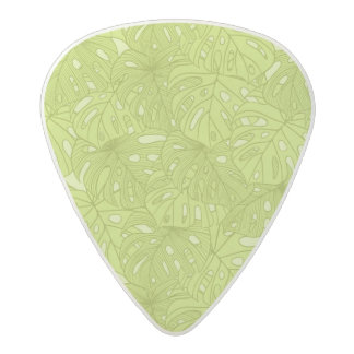 Leaves of Palm Tree Acetal Guitar Pick