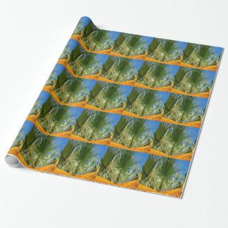 Leaves of palm tree wrapping paper