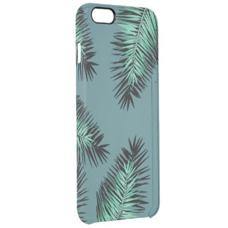leaves of palm with green bottom clear iPhone 6 plus case