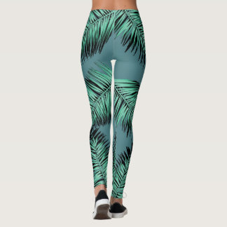 leaves of palm with green bottom leggings